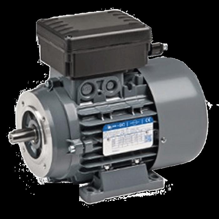 4P-BCMF90L Motor Monofásico 1.500 rpm WA 1,5 KW (2 CV) con condensador permanente y electrofreno de C.C