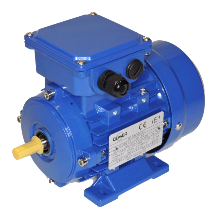4P-MSE631 Motor 0,12 KW (0.17 CV) 1500 RPM Trifasico CEMER