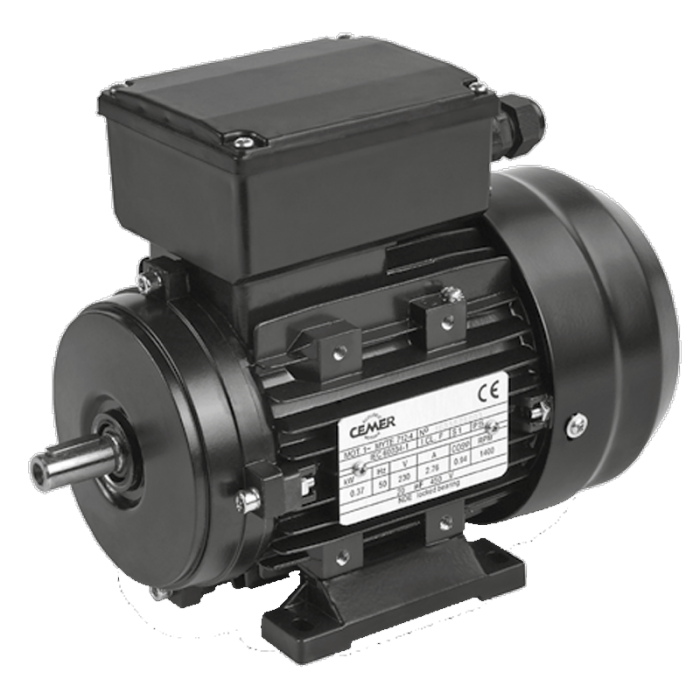 4MLE711 Motor 0,25 KW (0,33 CV) 1500 RPM Monofásico de Alto par de arranque CEMER
