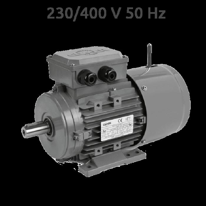 2p-MSEF713 Motor trifasico 1 CV 3000 RPM con freno electrico