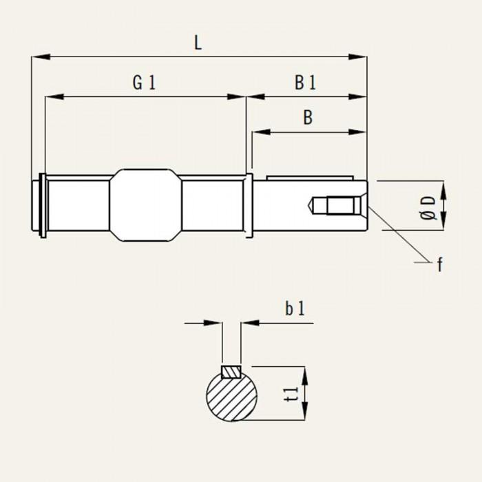 MSF-ES 110 eje de salida simple