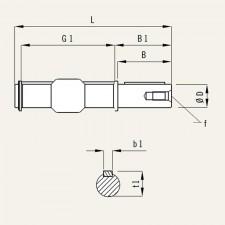 MSF-ES 063 Eje de salida simple  tamaño 063