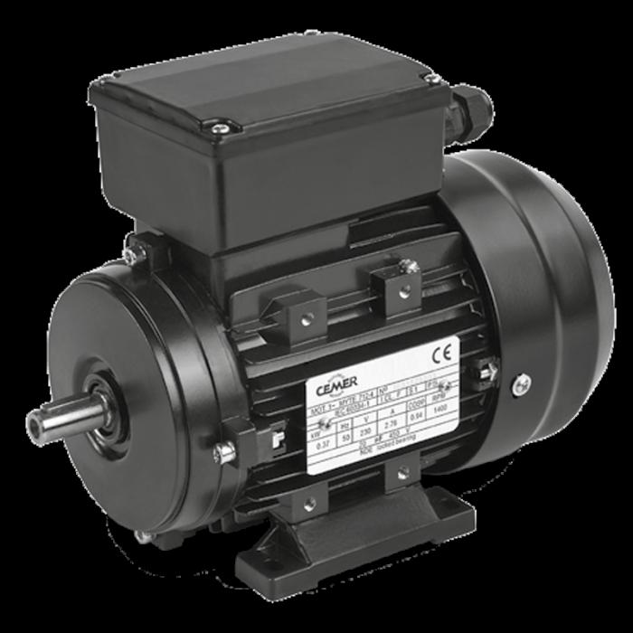 2MYTE90S Motor 1,5 KW (2 CV) 3000 RPM Monofasico de par de arranque aumentado con condensador permanente CEMER