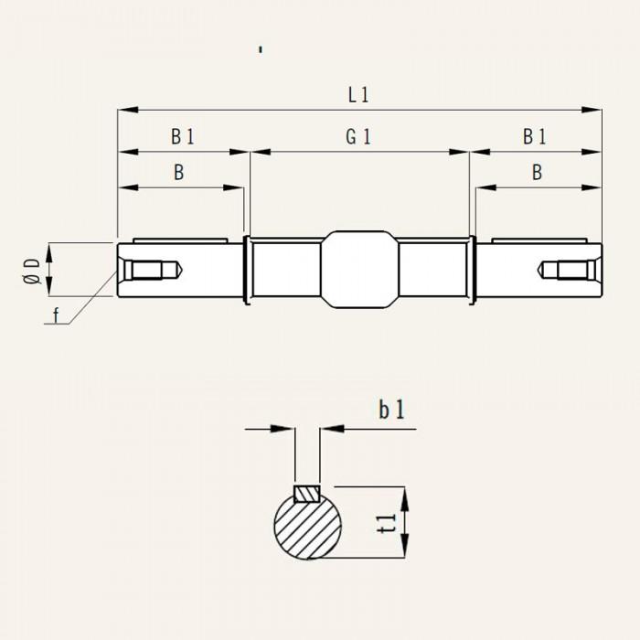 MSF-ED 063 Eje de salida doble tamaño 063