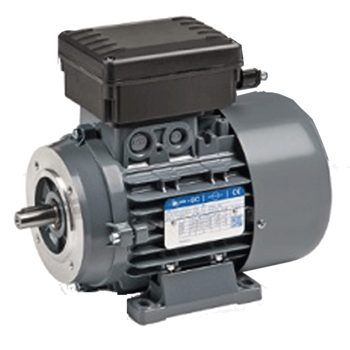 4-NMAM 80C Motor Monofasico de 0,55 KW (0,75 CV) 1.500 rpm con electrofreno CC WA