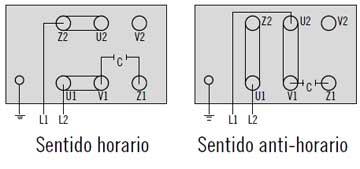 regleta de conexiones motor monofasico